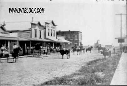 Downtown Nederland, Texas in 1903